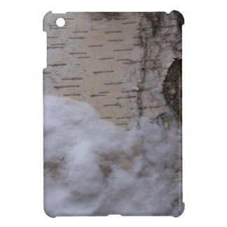 Birch tree in Snow iPad Mini Cover