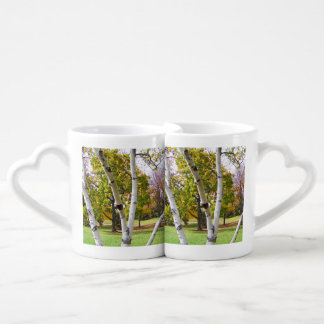 Birch Tree in the Park Coffee Mug Set
