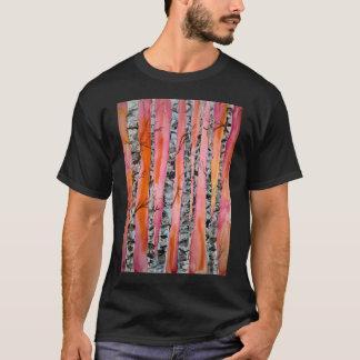 birch tree landscape abstract art T-Shirt