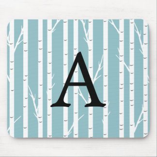 Birch Tree Monogrammed Mouse Pad
