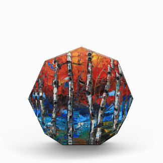 Birch Tree Palette Knife Painting Award
