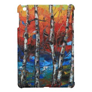 Birch Tree Palette Knife Painting iPad Mini Cover