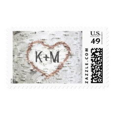 Birch Tree Postage Stamps For Rustic Weddings at Zazzle