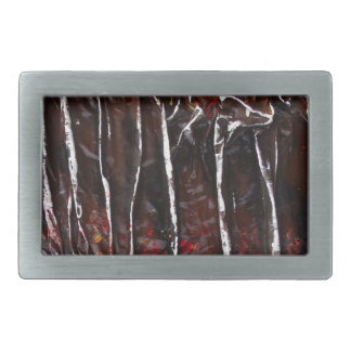 Birch tree rectangular belt buckle