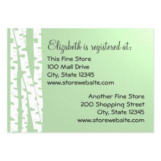 Birch Tree Registry Card Green