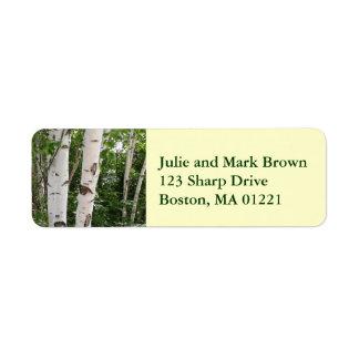 Birch Tree Return Address Label
