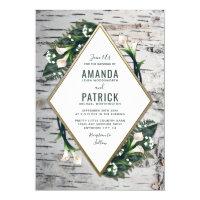 Birch Tree Rustic Calla Lily Wedding Invitations