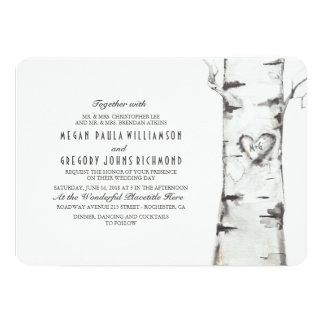 Birch Tree Rustic Wedding Card