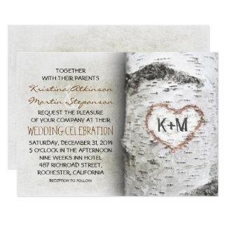 Good Birch Tree Rustic Wedding Invitations