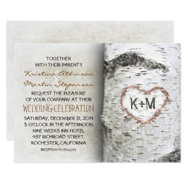 jinaiji Birch Tree Rustic Wedding Invitations