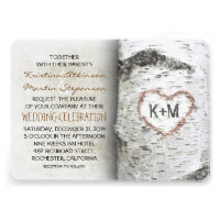 Birch Tree Rustic Wedding Invitations Personalized Invitation