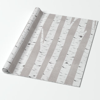 Birch Tree Rustic Woodland Wrapping Paper