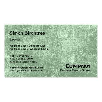 Birch Tree Texture - Light Green (CCFFCC) Business Card