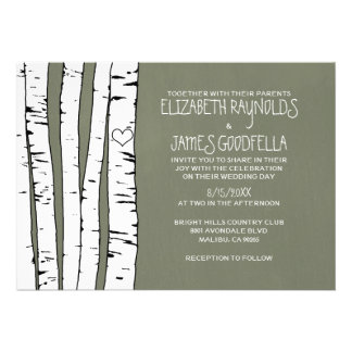 Birch Tree Wedding Invitations Announcements