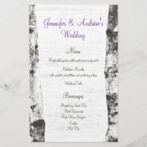 Birch Tree Wedding Menu