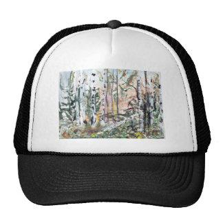 Birch Tree Woodland Watercolour Painting Trucker Hat