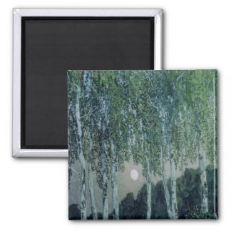 Birch Trees 2 Inch Square Magnet