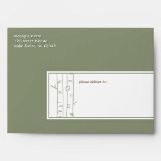 Birch Trees - A7 Envelope