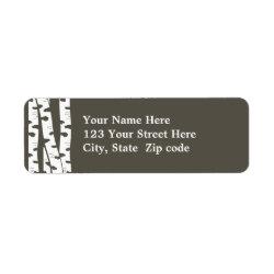 Birch Trees Address or Gift tag Return Address Label