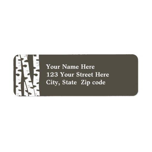 Birch Trees Address or Gift tag Custom Return Address Label