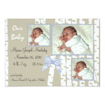 """Birch Trees and Bows Baby 5"""" X 7"""" Invitation Card"""