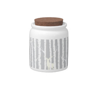 Birch Trees and Deer Candy Dish