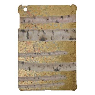 Birch Trees and Gold Leaf Original Artwork iPad Mini Cover