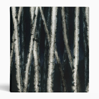 Birch Trees at Night Binder