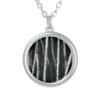 Birch Trees at Night Necklace