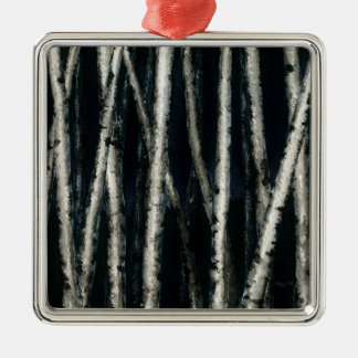 Birch Trees at Night Ornament