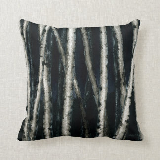 Birch Trees at Night Pillow