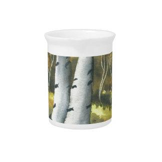 Birch Trees Beverage Pitcher