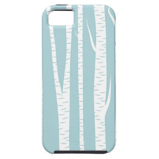 Birch Trees Blue iPhone 5 Cover