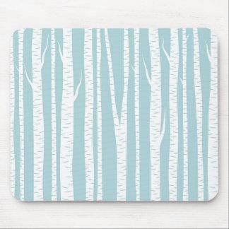 Birch Trees Blue Mousepad