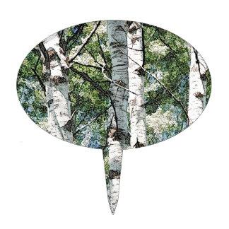Birch Trees Cake Topper
