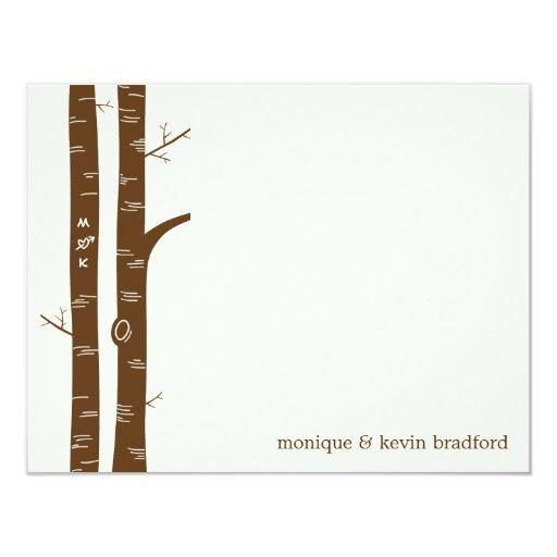 Birch Trees Flat Thank You Card