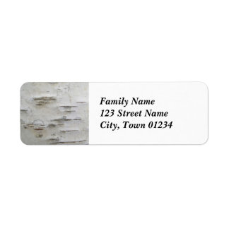Birch Trees Return Address Label