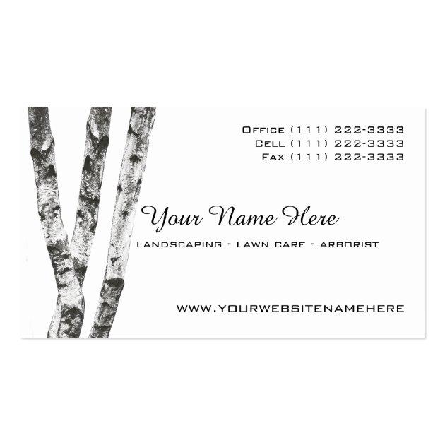 Lawyer Card Template: Birch Trees Landscape Arborist Business Card Templates