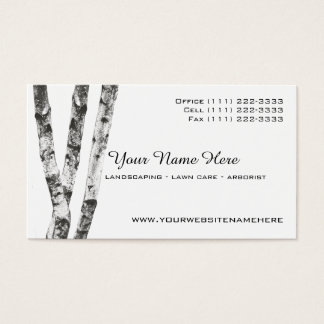 Birch Trees Landscape Arborist Business Card