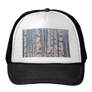 Birch trees Morse Code Trucker Hat