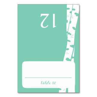 Birch Trees Seating Card Table Card