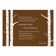 Birch Trees Wedding Invitation - Chocolate