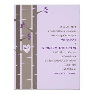 "Birch Trees Wedding Invitation (Small - A2) 4.25"" X 5.5"" Invitation Card"