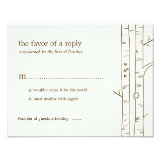 Birch Trees Wedding RSVP Card - Sketchy
