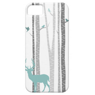 Birch Trees with Deer iPhone SE/5/5s Case