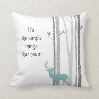 Birch Trees with Deer Simple Things Count Pillows