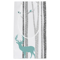 Birch Trees with Deer Small Gift Bag
