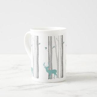 Birch Trees with Deer Tea Cup