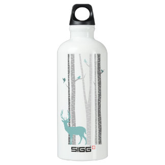 Birch Trees with Deer Water Bottle