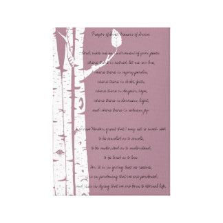 Birch Trees with Prayer Canvas Print